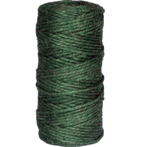 3ply green jute spool