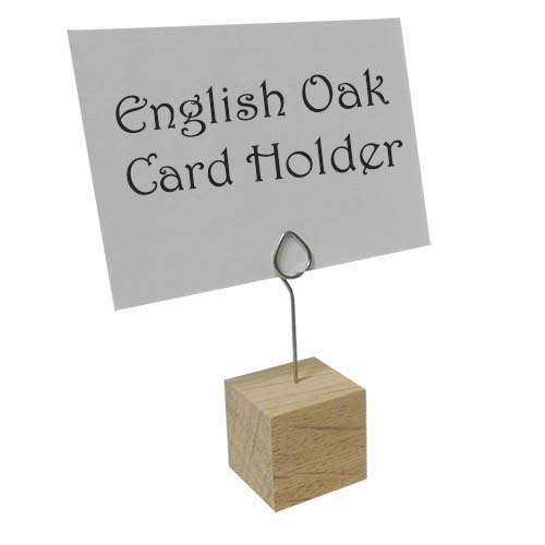 Oak Label Holder