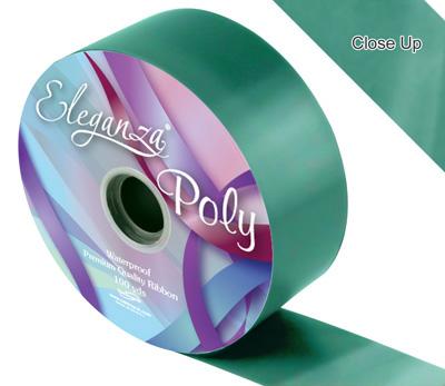 50mm Poly Ribbon Emerald Green