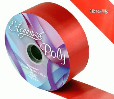 50mm Poly Ribbon Red