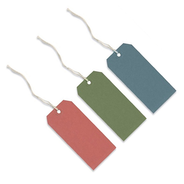 60mmx120mm Coloured Strung Tags