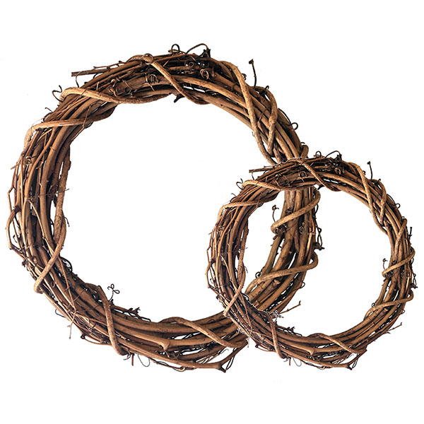 Grapevine Wreath Rings - 20cm & 30cm | The Essentials Company