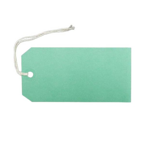 Green-Parcel-Label-Strung-Tag
