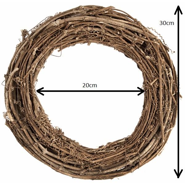 30cm Natural Wreath Base