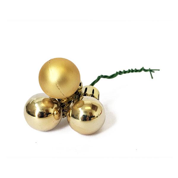 Gold Christmas Ball Pick