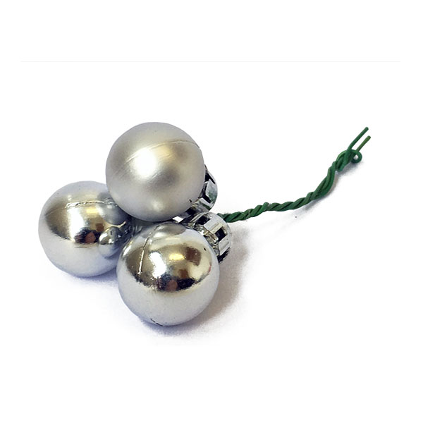 Silver Christmas Ball Pick