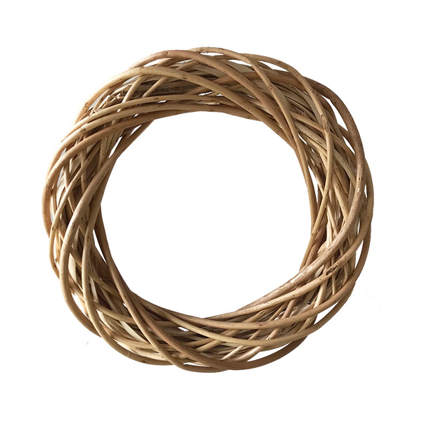 25cm Peeled Wicker Ring