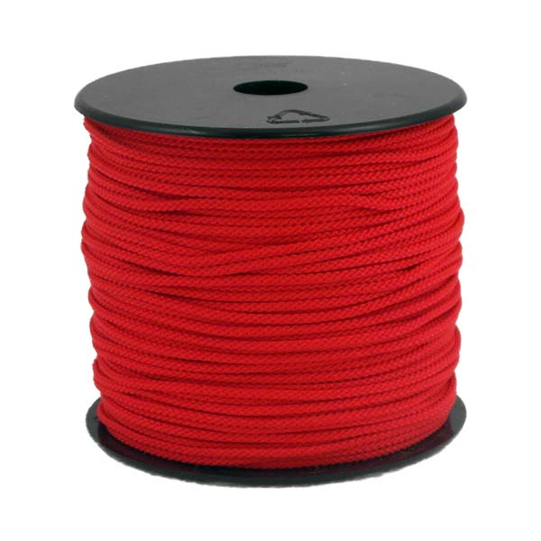 Coloured Polypropylene Cord Red