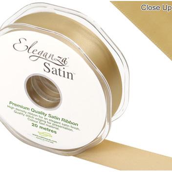Eleganza Satin Ribbon 25mm Gold