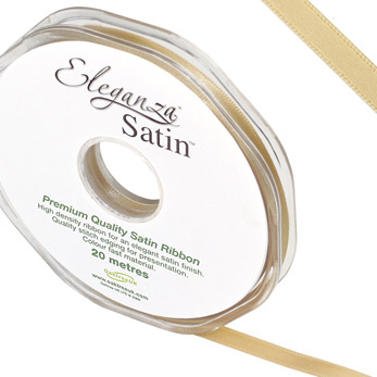 Eleganza Satin Ribbon - 6mm Gold