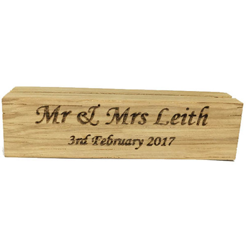 Personalised Wooden Place Names Holder