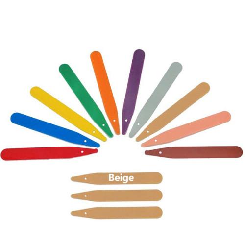 Beige Plastic Labels