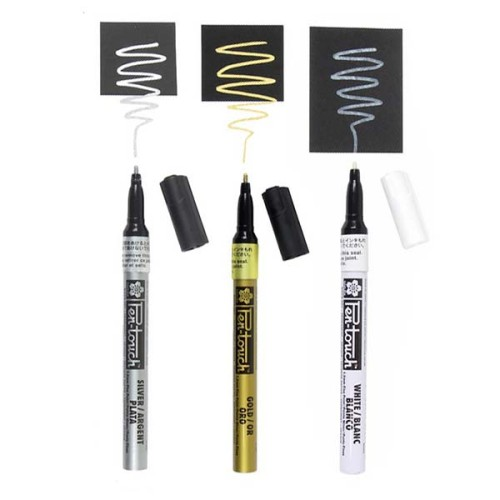 Paint Marker Gold, Silver, White