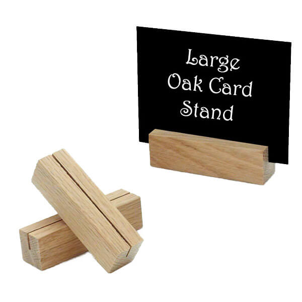 Large Oak Card Stand The Essentials Company