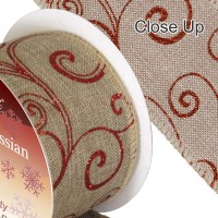 Hessian Ribbon, Wired Edge