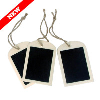 Wooden Blackboard Tags