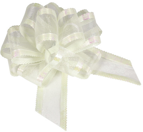 Organza Pull Bow Ivory