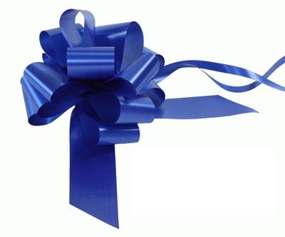 Royal Blue - Pull Bow