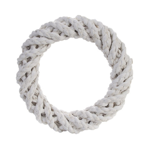 Sisal Wreath Ring White