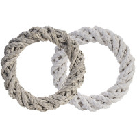 Sisal Wreaths - White & Grey