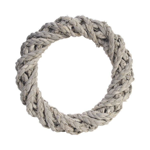 Sisal Wreath Ring - Grey