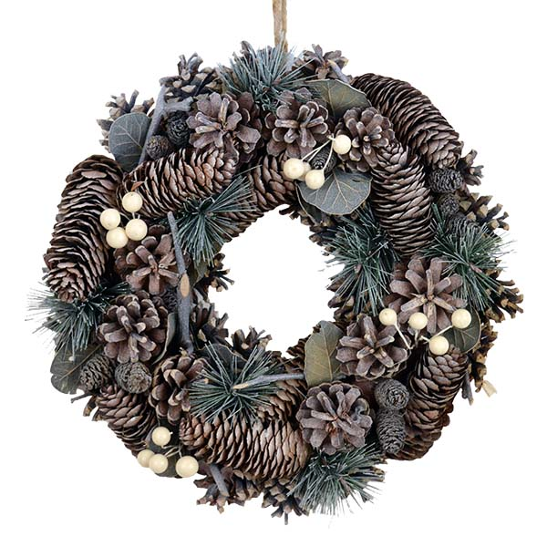 wreath-white-berry-cone