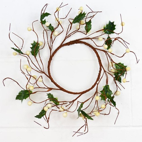 Berry Wreath - White - The Essentials Company