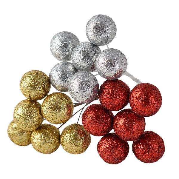 Glittering Deco Ball Picks