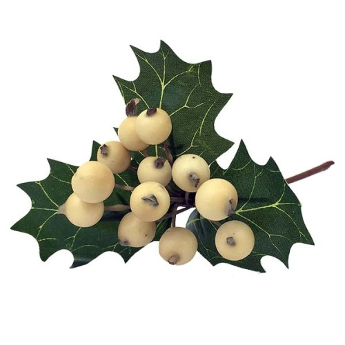 Ilex Christmas Berry Pick - White