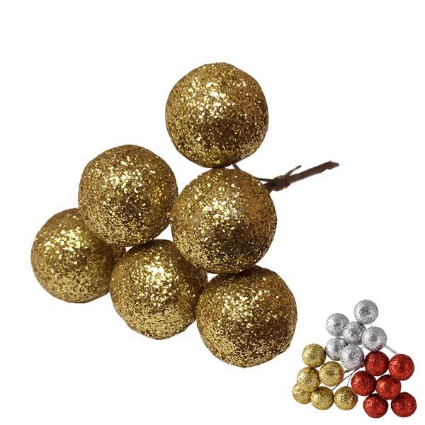 Sparkling Deco Ball Pick - Gold
