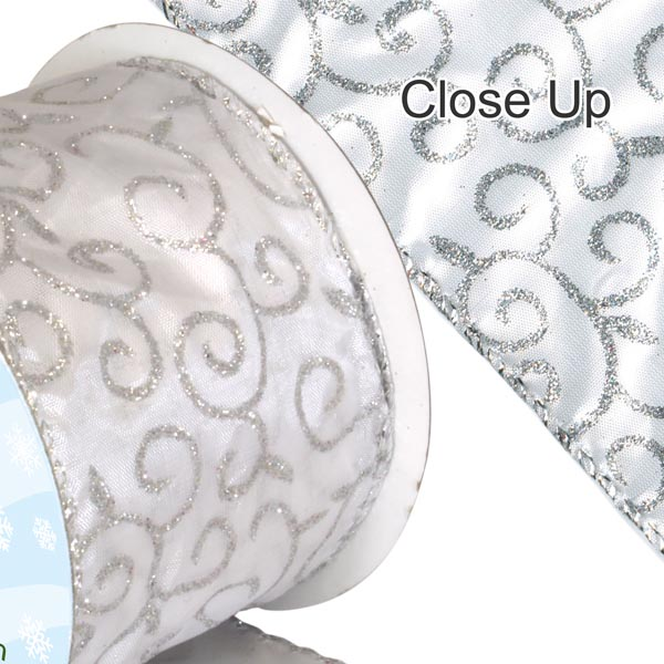 ORaganza Ribbon - Silver Filigree