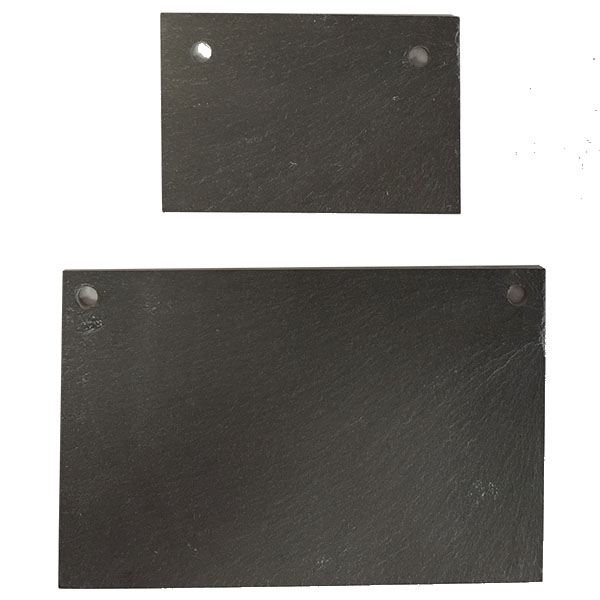 Large & Small Rectangular Slate Labels with Holes