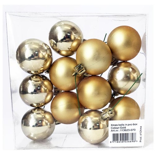 Christmas Ball Pick - Gold