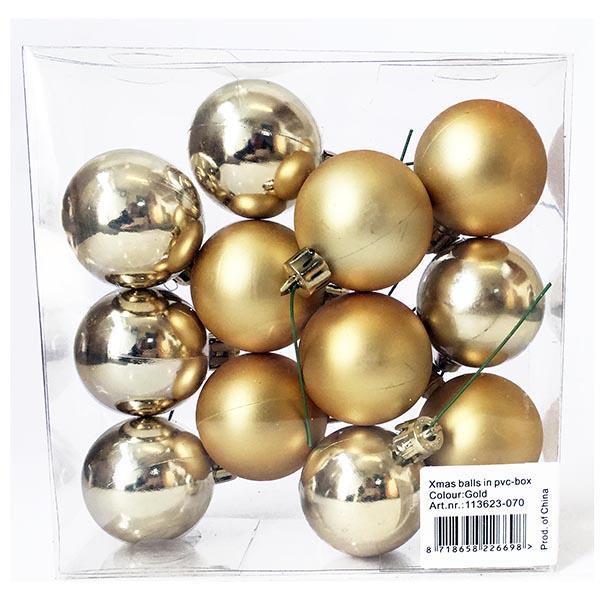 Christmas Ball Pick - Gold