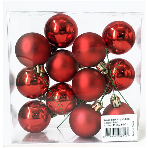Christmas Ball Pick - Red