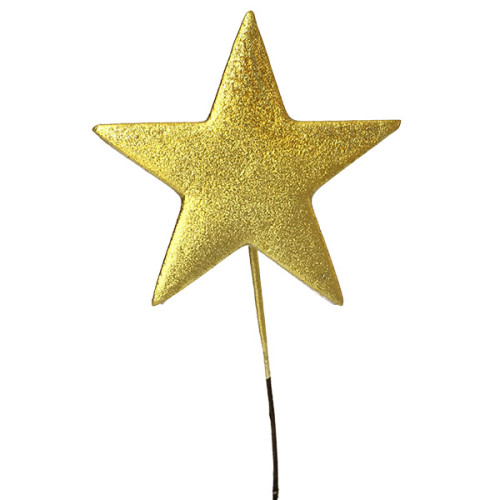 Gold Metallic Star Pick