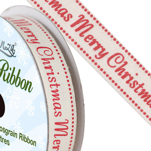 Natural Cotton Christmas Ribbon