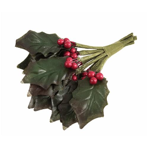 Hollie Leaf & Red Berries