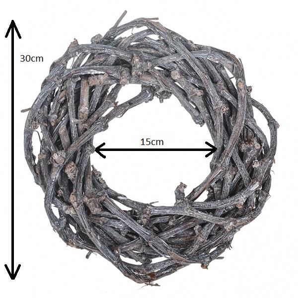 Twig Wreath Grey