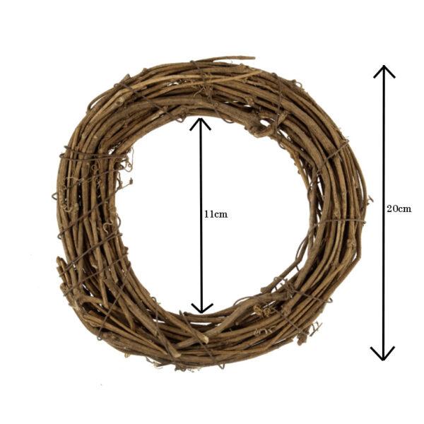 20cm Wreath Base Dims